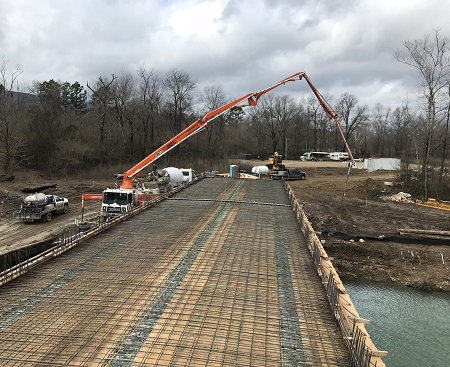 McCurtain County New Bridge Concrete Form